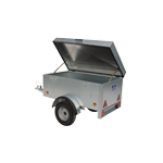 Car Box Trailer with Hinged Lid